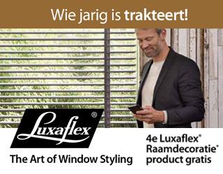 4e Luxaflex® Raamdecoratie product gratis